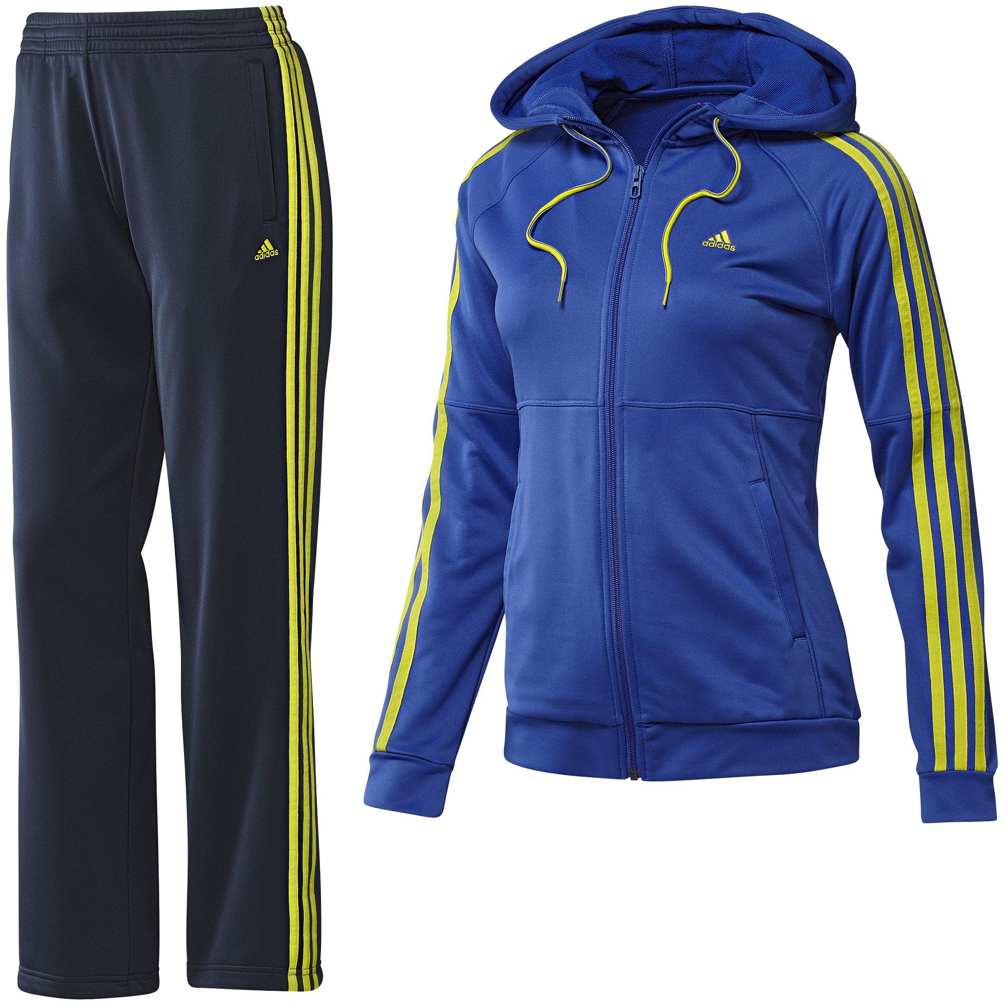 adidas damen sportanzug young knit suit. Black Bedroom Furniture Sets. Home Design Ideas