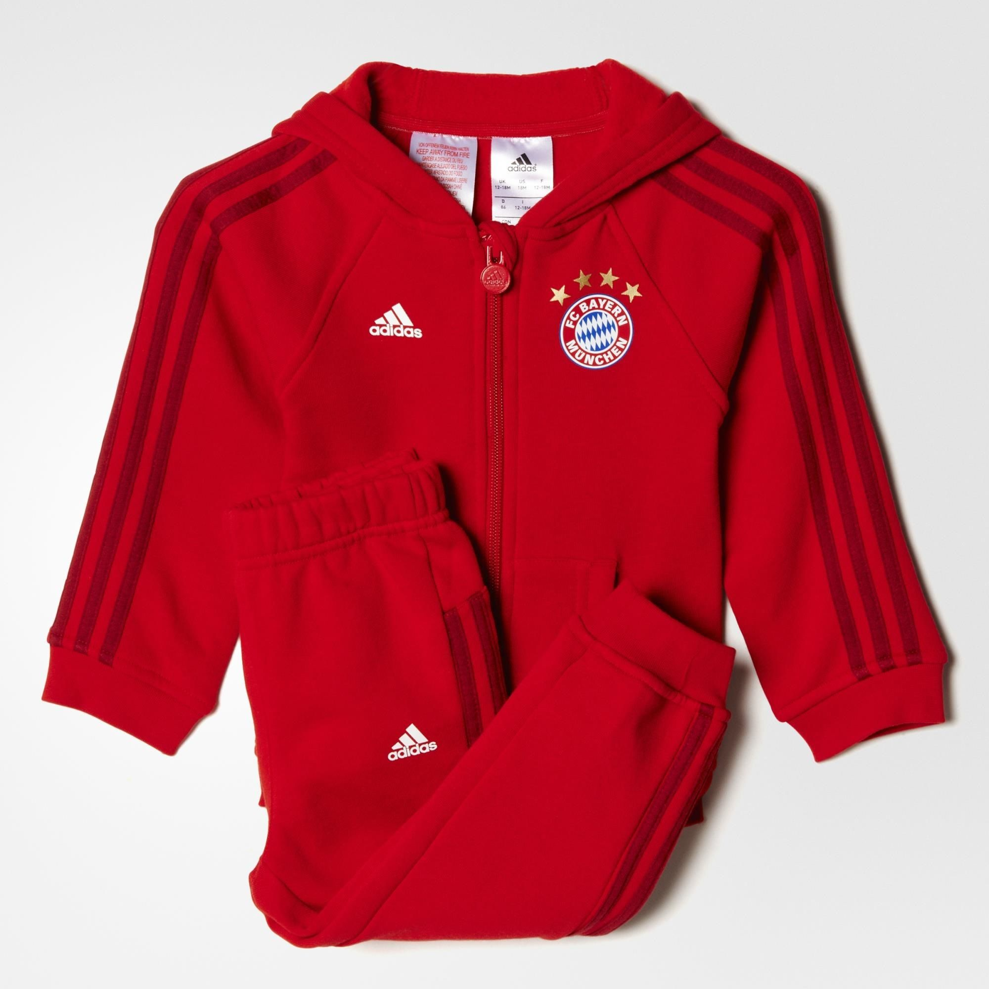 adidas kinder jogginganzug fc bayern m nchen 3 streifen ebay. Black Bedroom Furniture Sets. Home Design Ideas