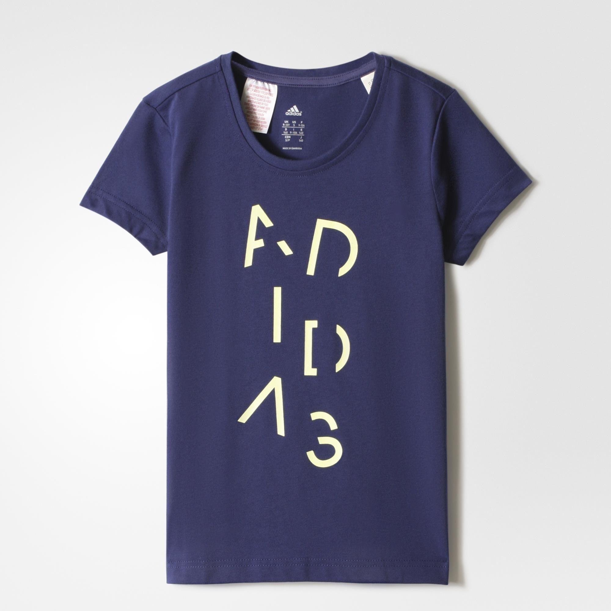 adidas t shirt m dchen culver vulc ss14 adidas comprar. Black Bedroom Furniture Sets. Home Design Ideas