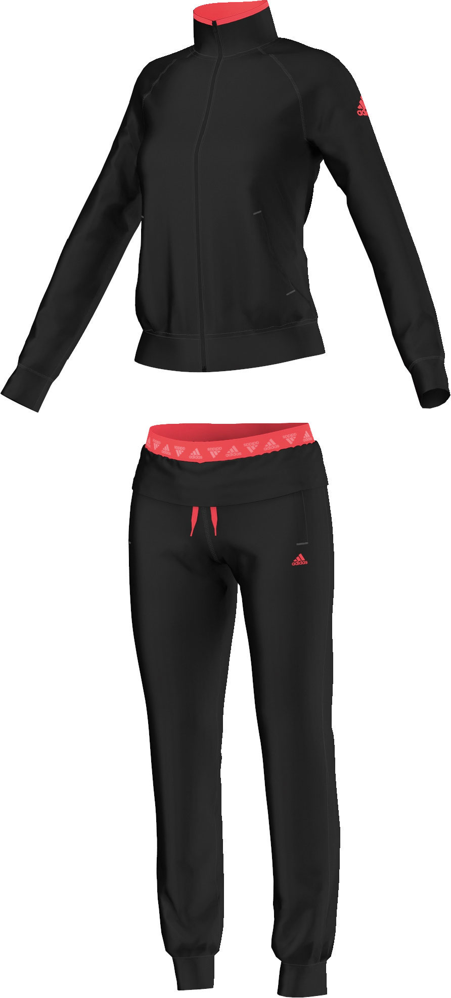 adidas damen trainingsanzug logo tracksuit ebay. Black Bedroom Furniture Sets. Home Design Ideas