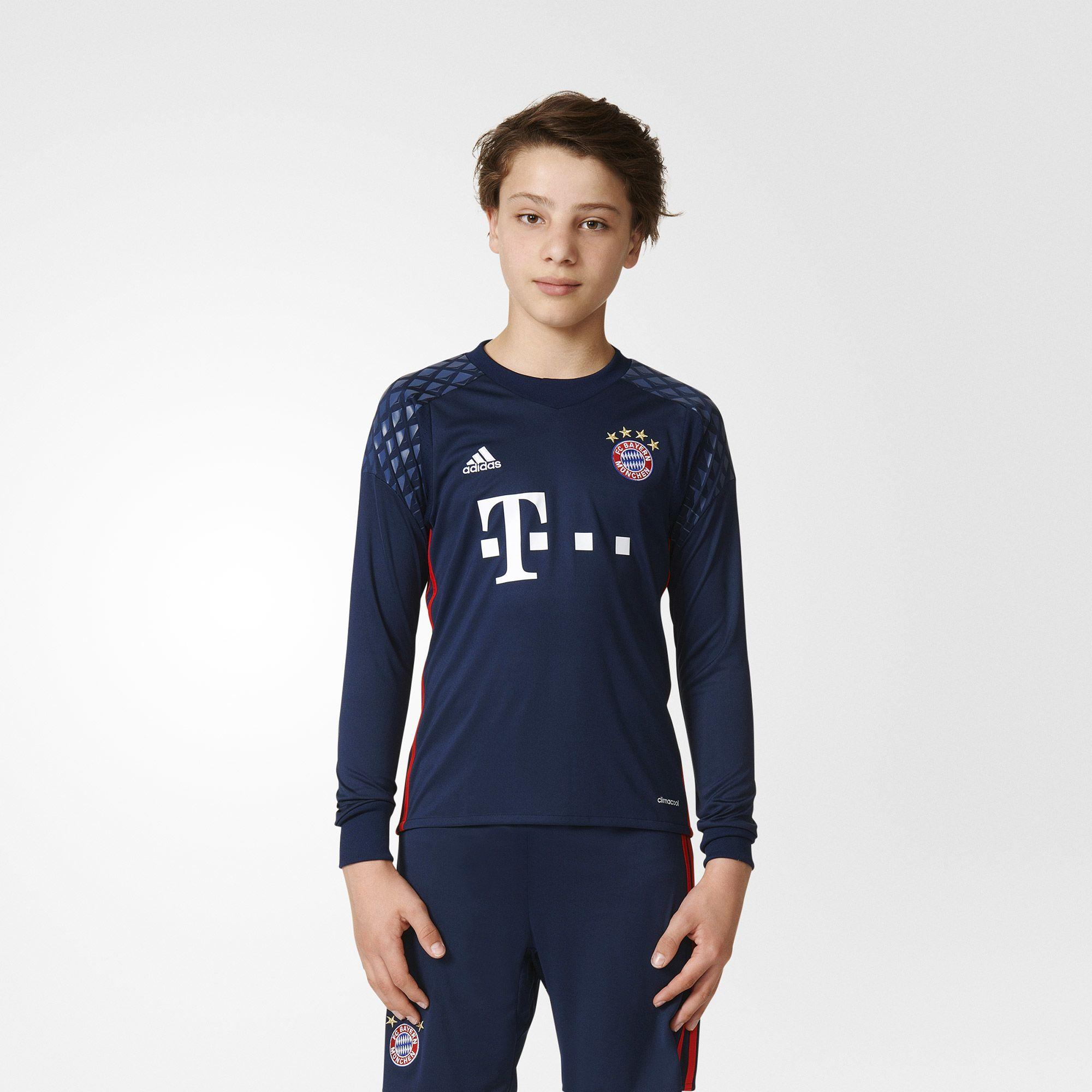 adidas kinder fc bayern m nchen torwart heimtrikot replica ebay. Black Bedroom Furniture Sets. Home Design Ideas