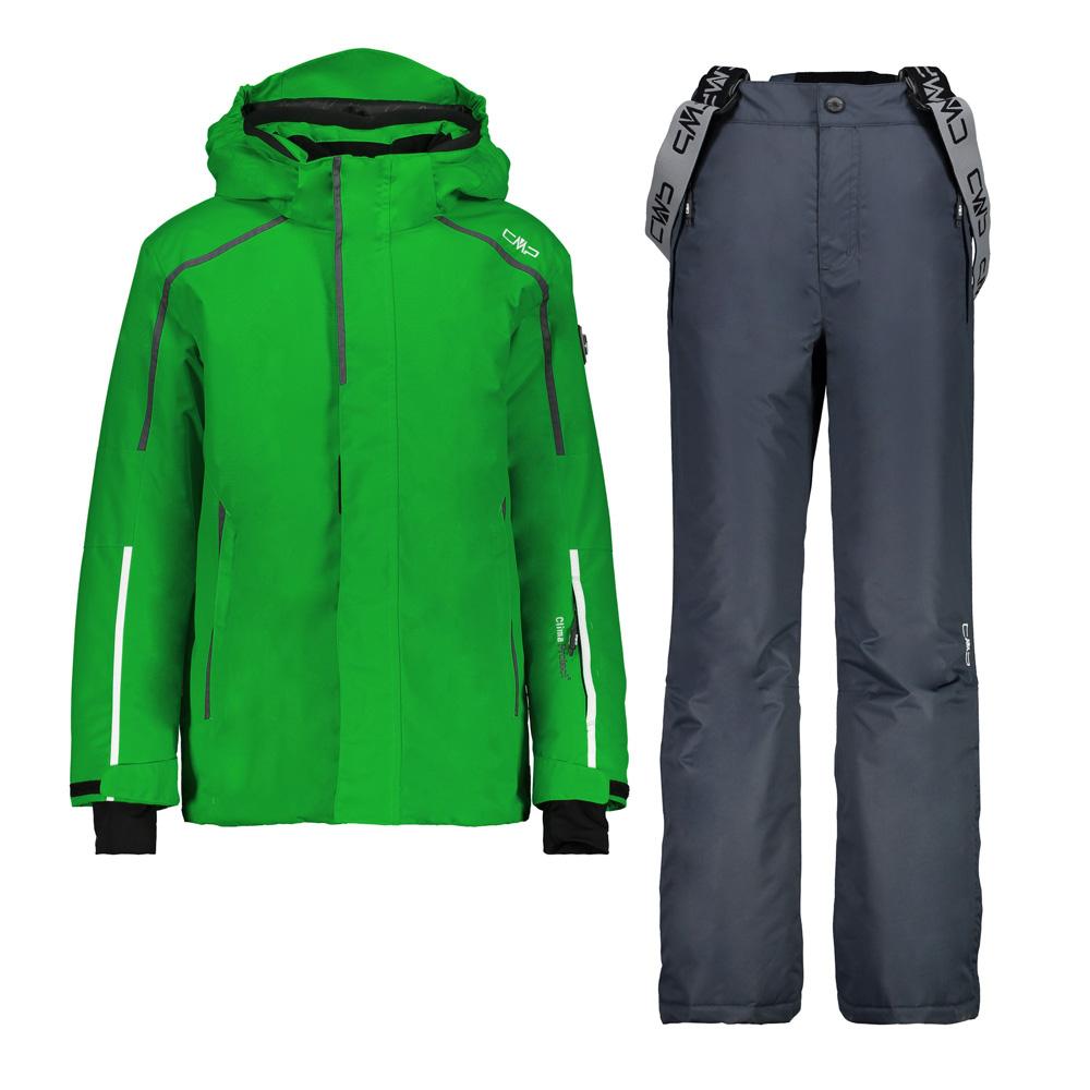Jungen Set Jacke und Gepolsterte Hose Grün