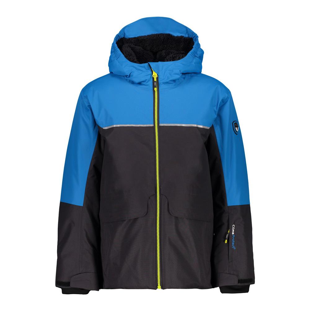 Skijacke Jungen Blau Anthrazit Schneejacke Jacke