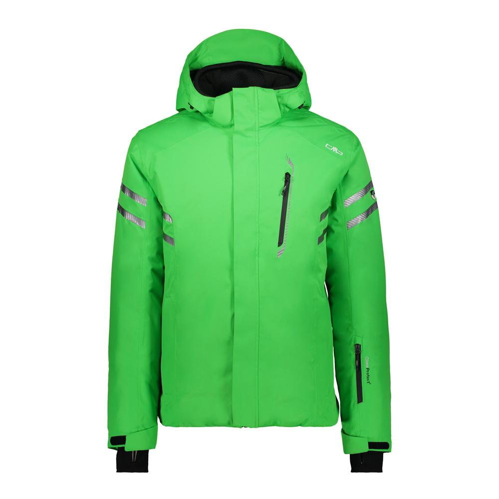 Man Jacket Zip Hood Skijacke Herren Grün