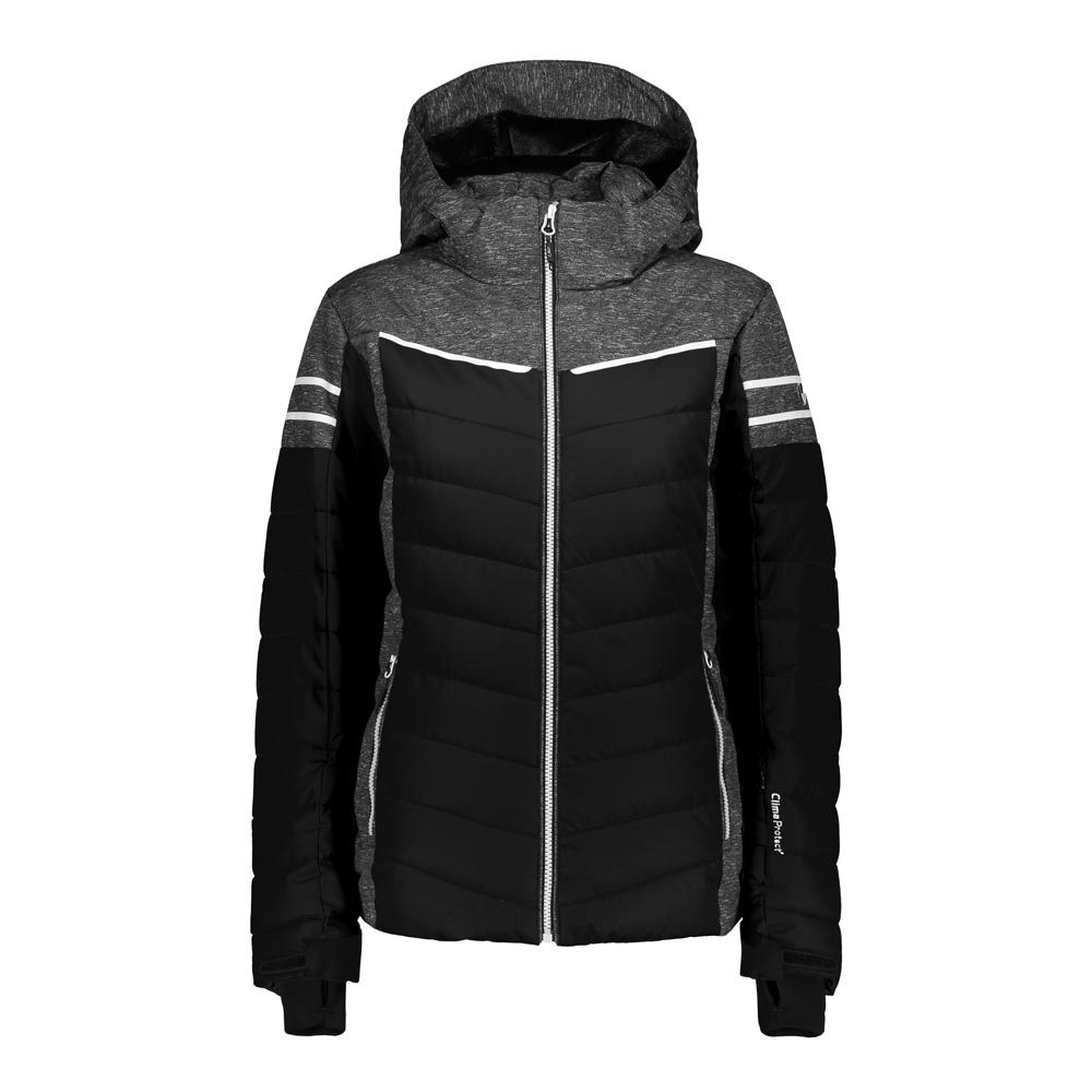 Woman Jacket Zip Hood Frauen Jacke Schwarz