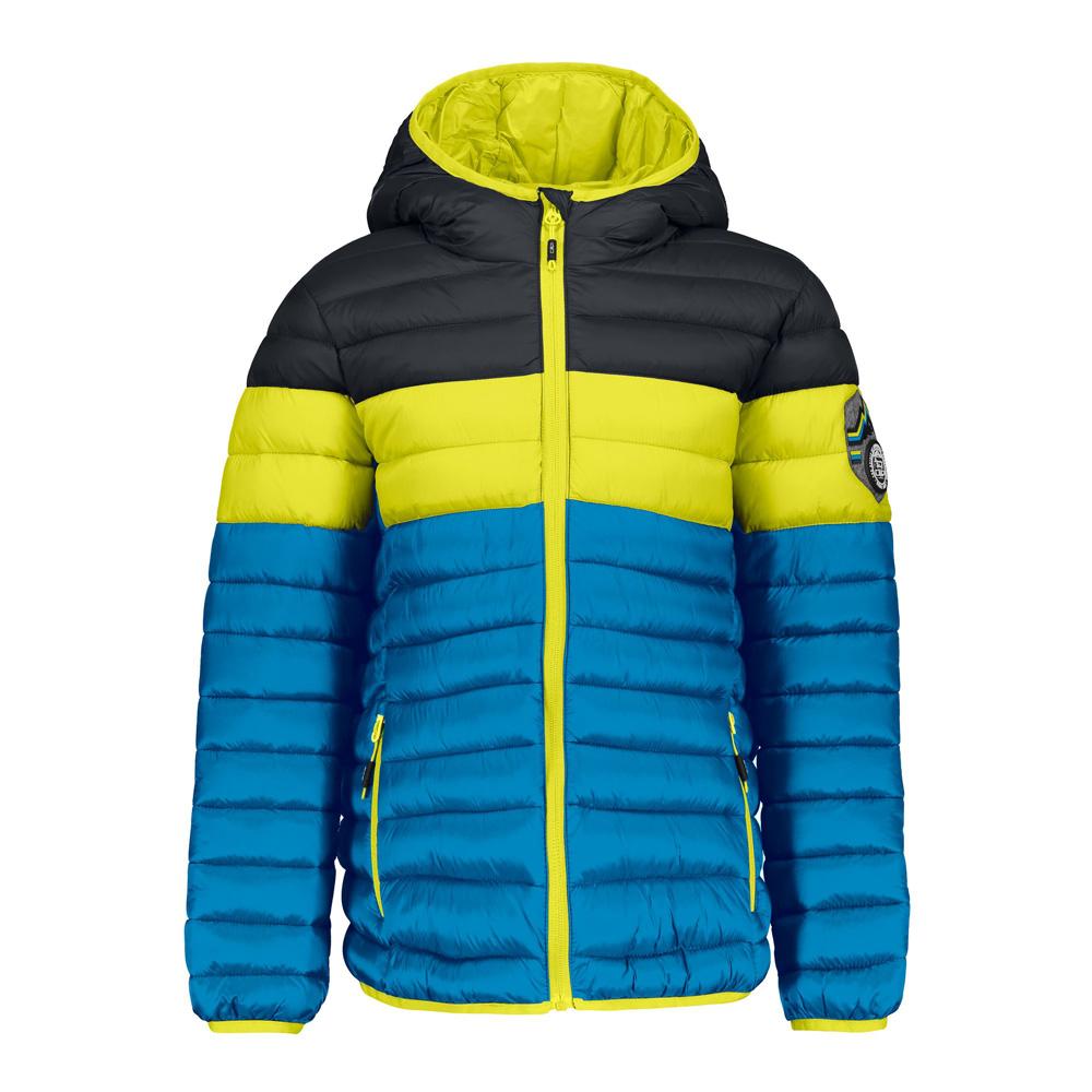 Jungen Skijacke Winterjacke Zip Hood Blau