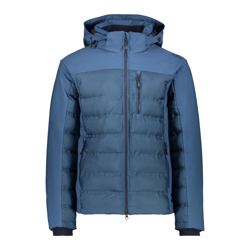 Man Jacket Zip Hood Jacke Herren Blau