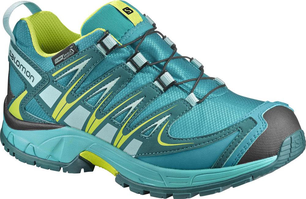 Kinder Schuhe XA PRO 3D CSWP K Deep Peaco, DEEP PEACOCK BLUE/CERAMIC/LIME PUNC, 28
