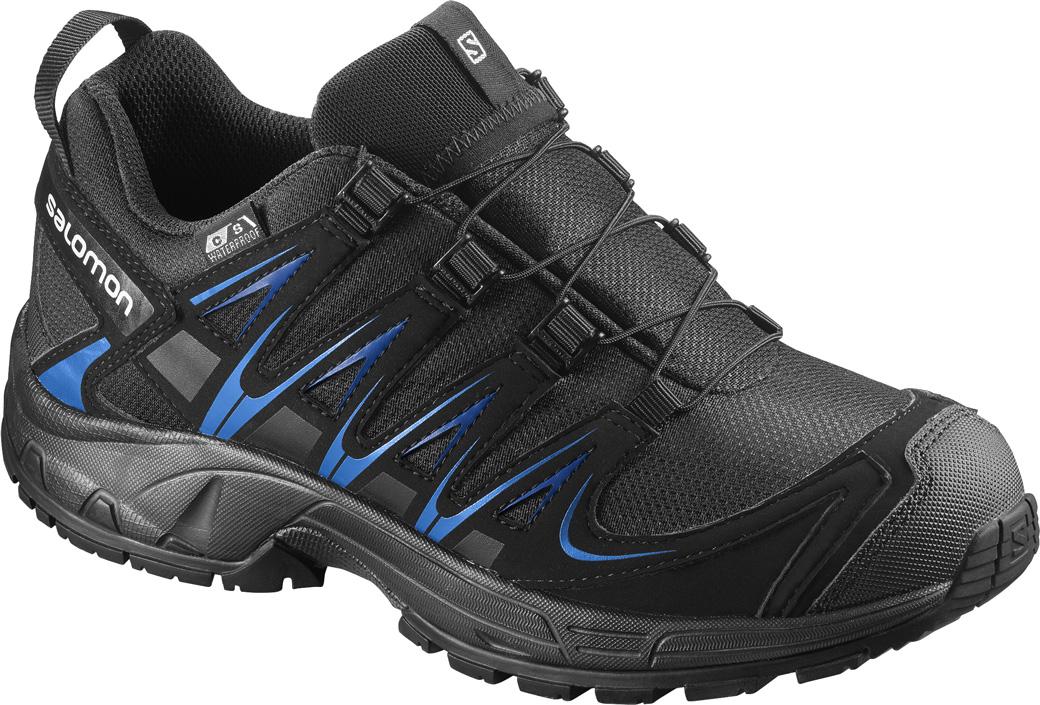 Kinder Schuhe XA PRO 3D CSWP J, BLACK/BLACK/UNION BLUE, 32