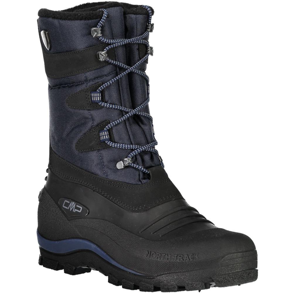 Herren Nietos Schneestiefel Schwarz Blau Schuhe
