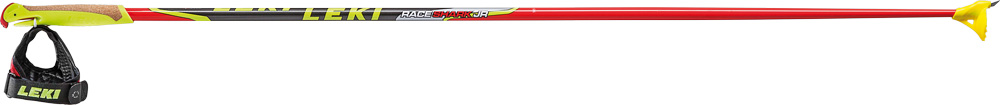 Skistöcke Race Shark Junior Rot, neonrot/schwarz-silber-gelb, 130