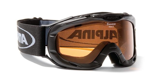 Kinder Skibrille RUBY S, schwarz, -