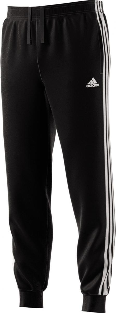 Essentials 3 Stripe Tapered and Cuffed Pant Schwarz, BLACK/WHITE, XL