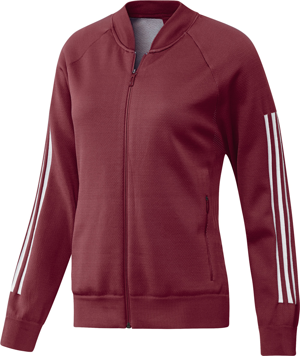 Frauen ID Knit Bomber Jacke Rot