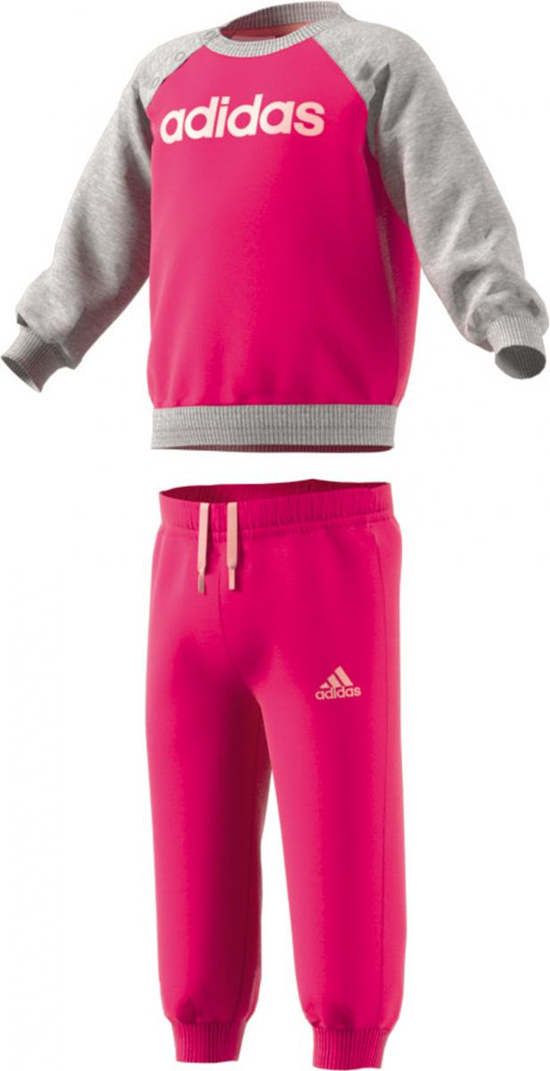 Kinder Baby Jogginanzug Magenta Rot Fleece