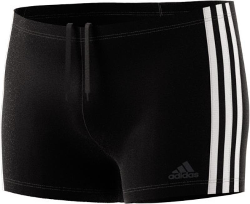 Fitness 3-Stripes swim boxer Badehose, BLACK/WHITE, 6