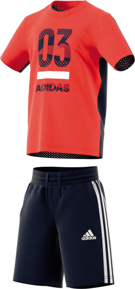Little Kid Short Sleeve Tracksuit Orange