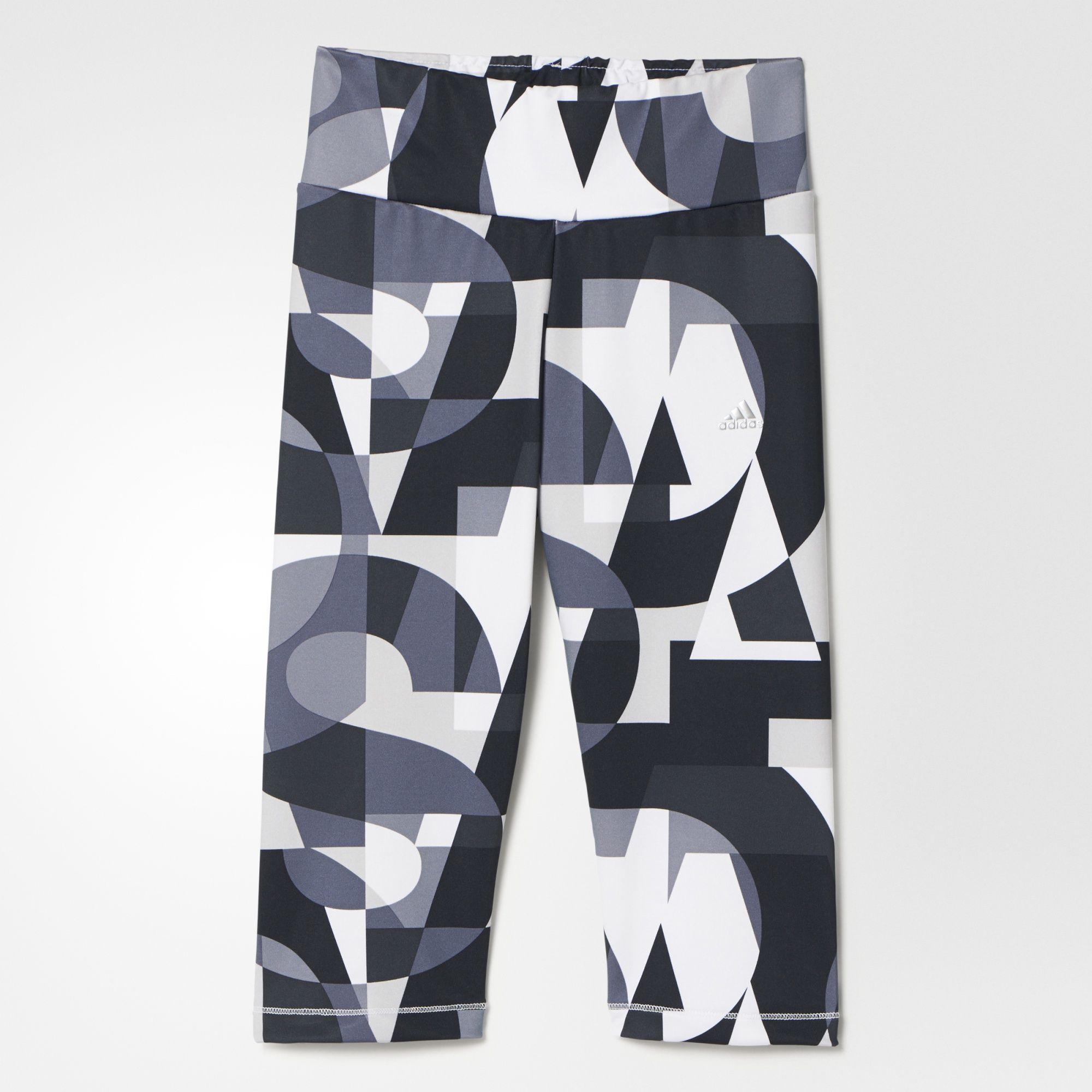 Damen 3/4 Tight Wardrobe Fitness, MULTCO/BLACK/MSILVE, 128