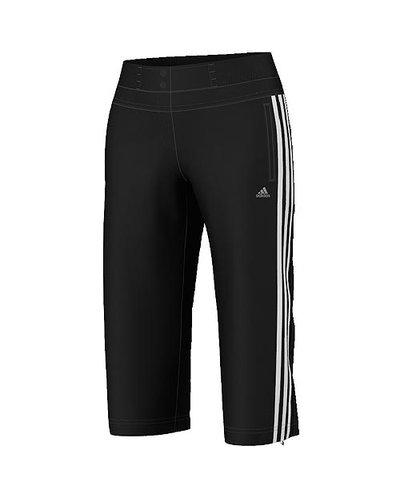 Damen Sporthose Climacool Training 3S Woven 3/4 Pant, BLACK/WHITE, 34