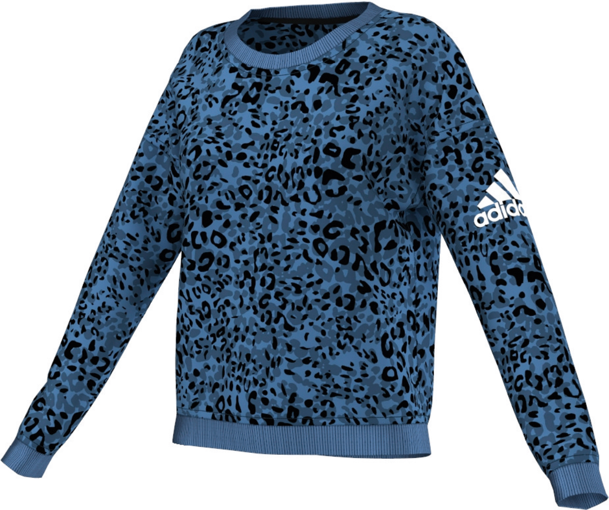 Damen Sweatshirt Team Cozy Sweat Animal Print
