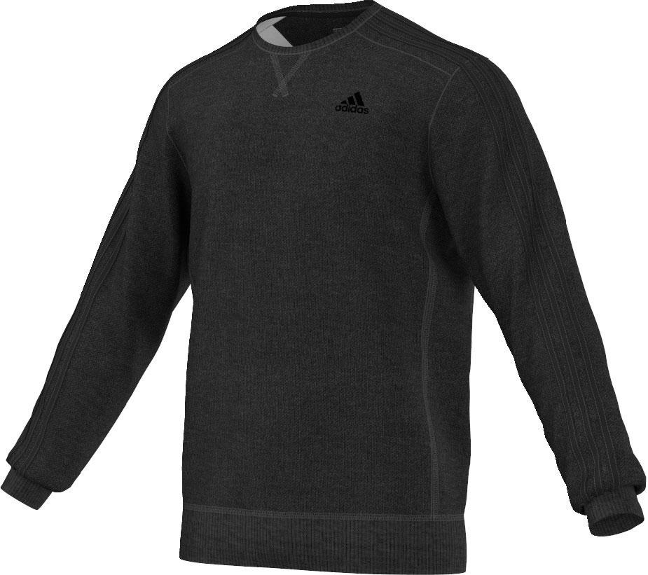 Herren Sweatshirt Essentials 3S Crew Fleece, BKVIME/BLACK, M