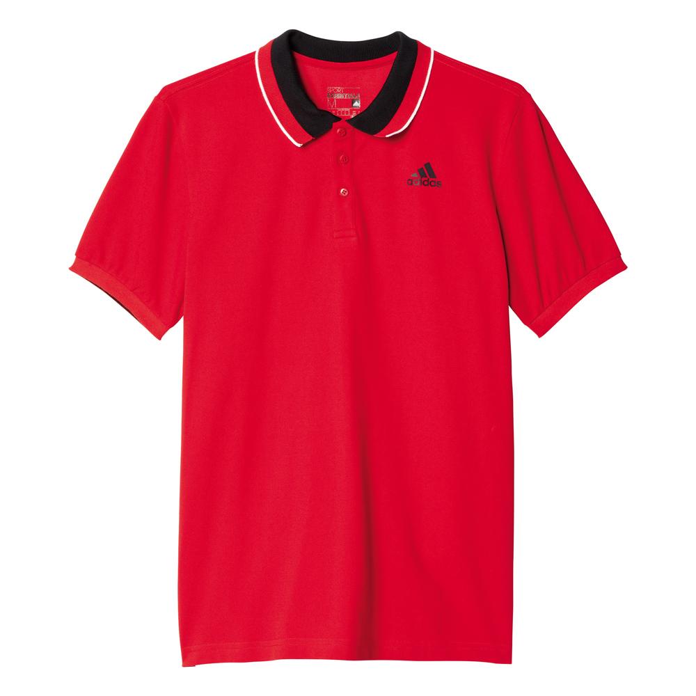 Herren Poloshirt Sport Essentials, SCARLE/BLACK, M