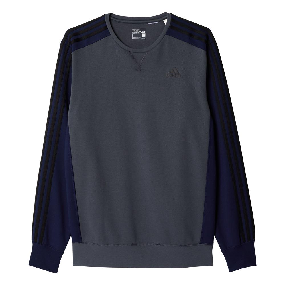 Herren Sweatshirt Sport Essentials 3S Crew Fleece, UTIBLU/CONAVY, M