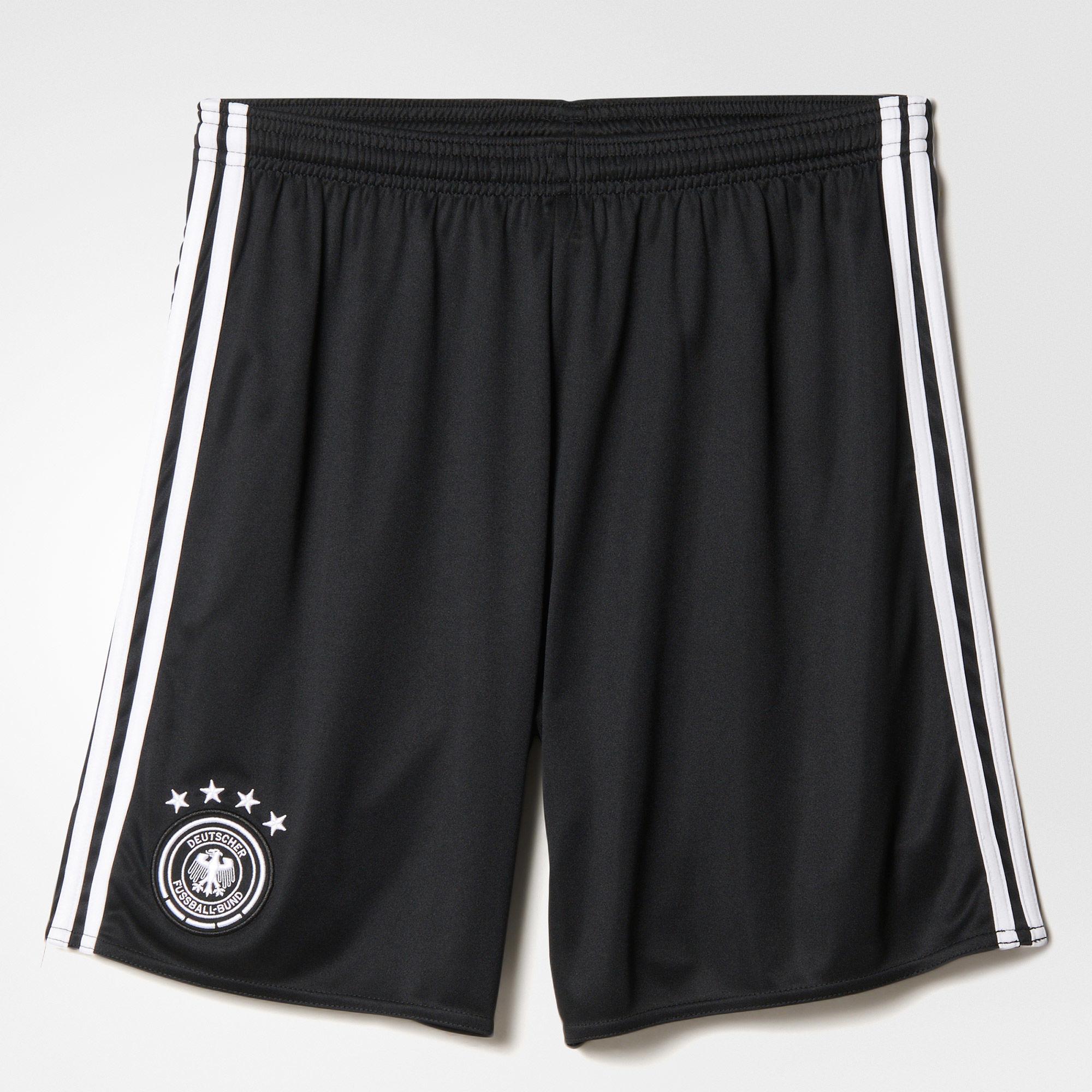Herren Heimshorts UEFA EURO 2016 DFB Replica, BLACK/WHITE, M