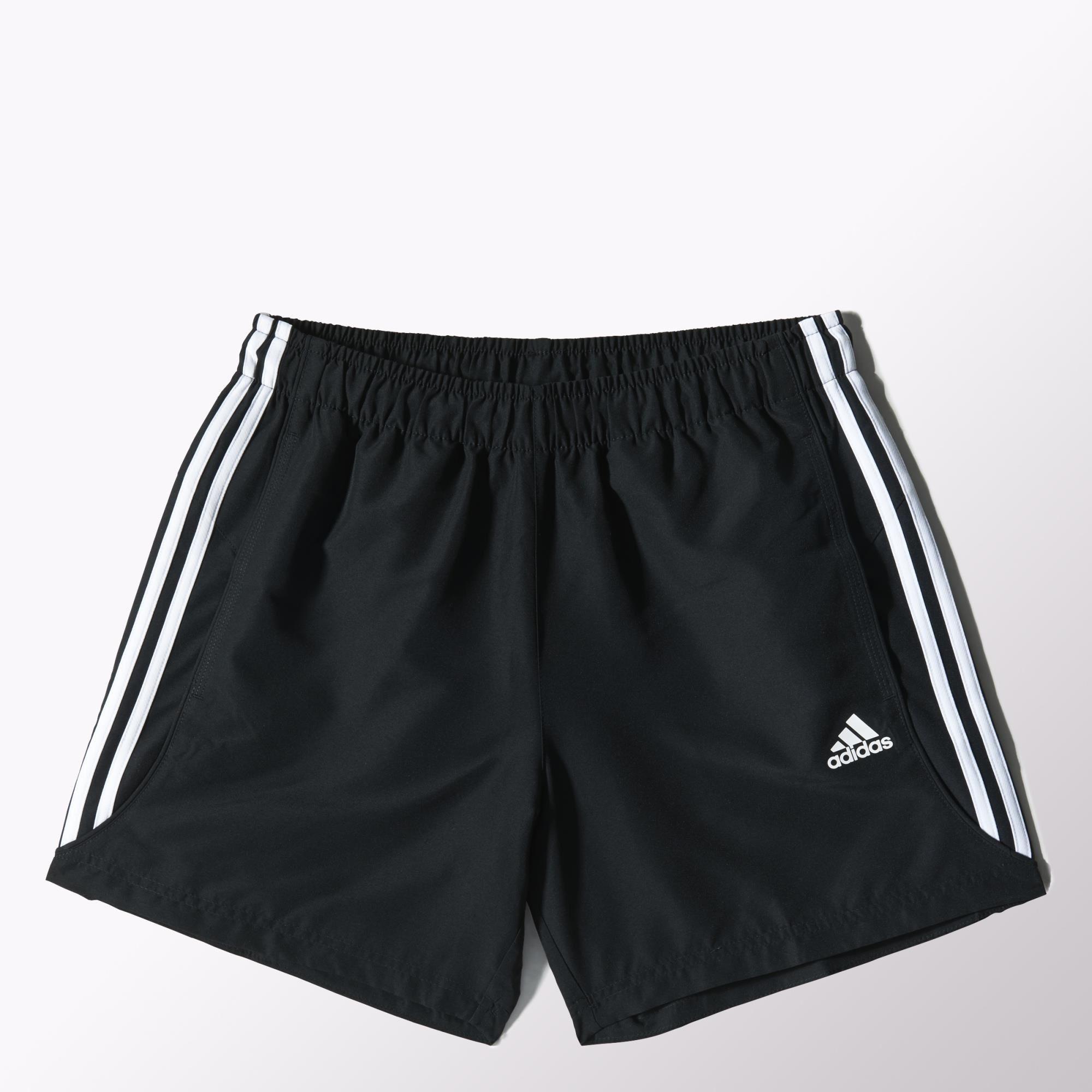 Herren Short Sport Essentials 3-Streifen Chelsea, BLACK/WHITE, XXL