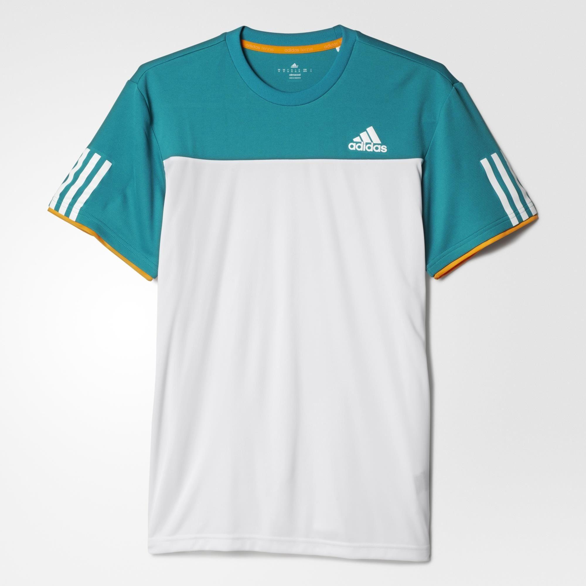 Herren Tennis T-Shirt, WHITE/EQTGRN, 2XL