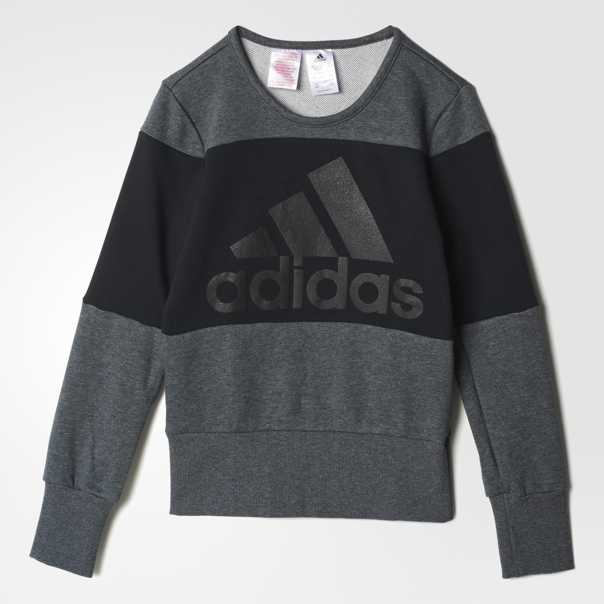 Mädchen Sweatshirt Wardrobe Style , DGREYH/BLACK, 140