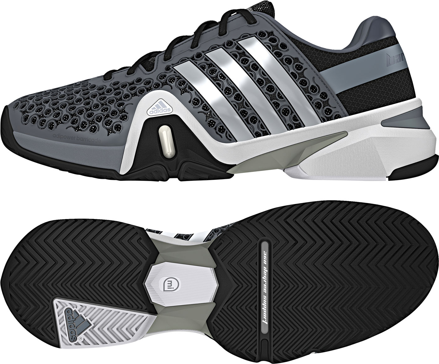 Herren Tennisschuh Adipower Barricade 8+ Synthetic