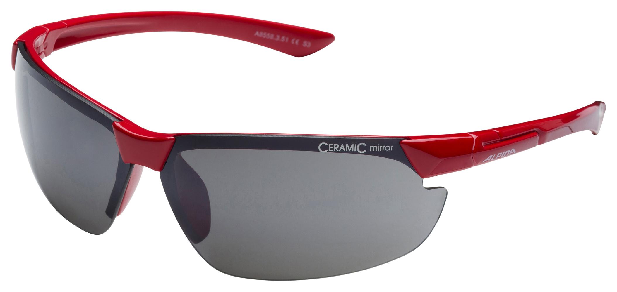 Unisex Sonnenbrille DRAFF, red, -