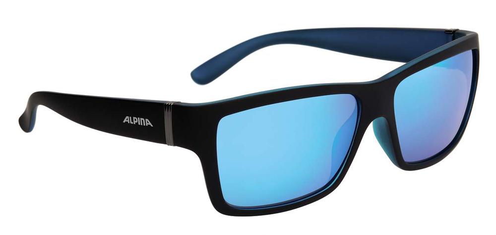 Herren Sonnenbrille KACEY, schwarz matt/blau, -
