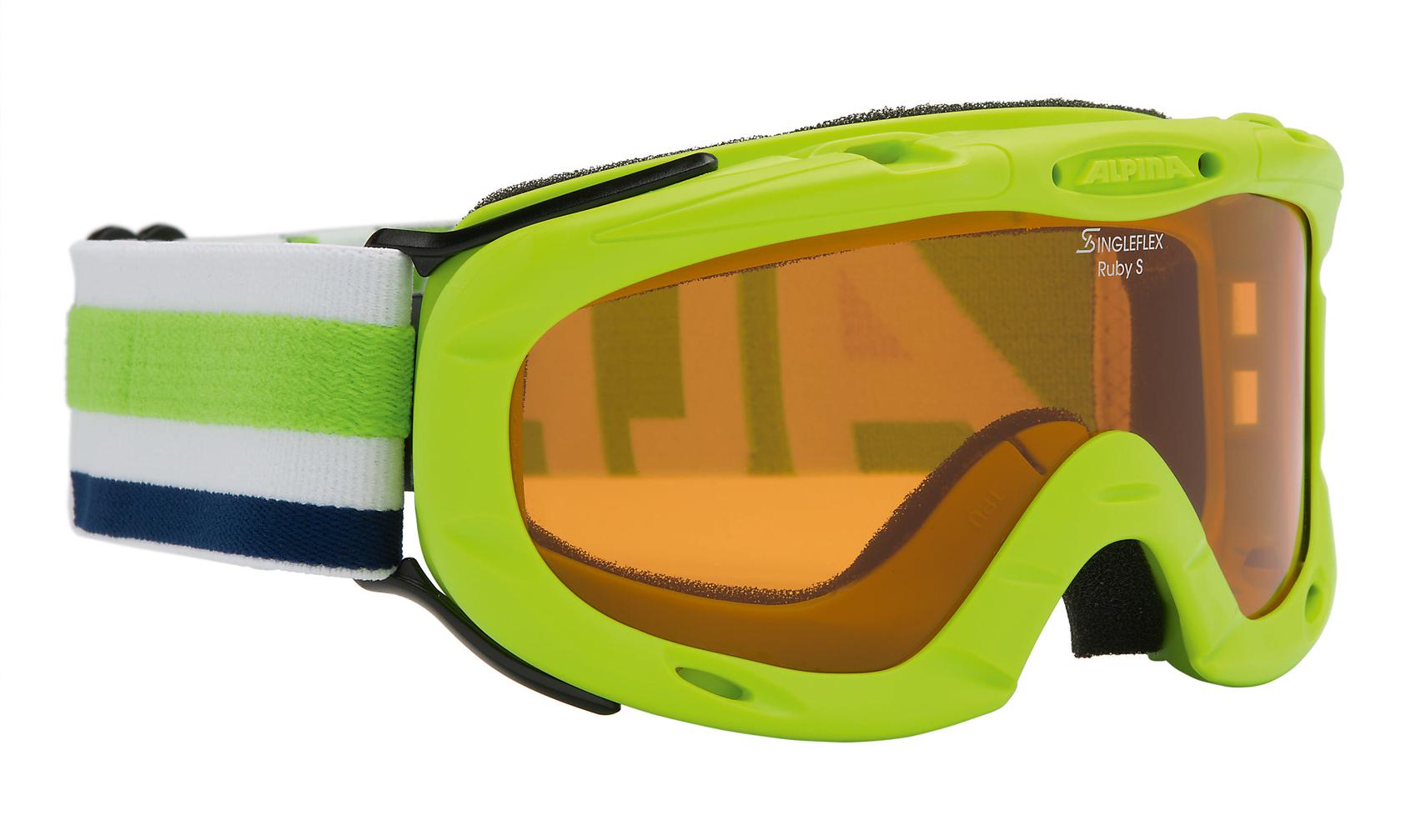 Kinder Skibrille RUBY S, limette, -