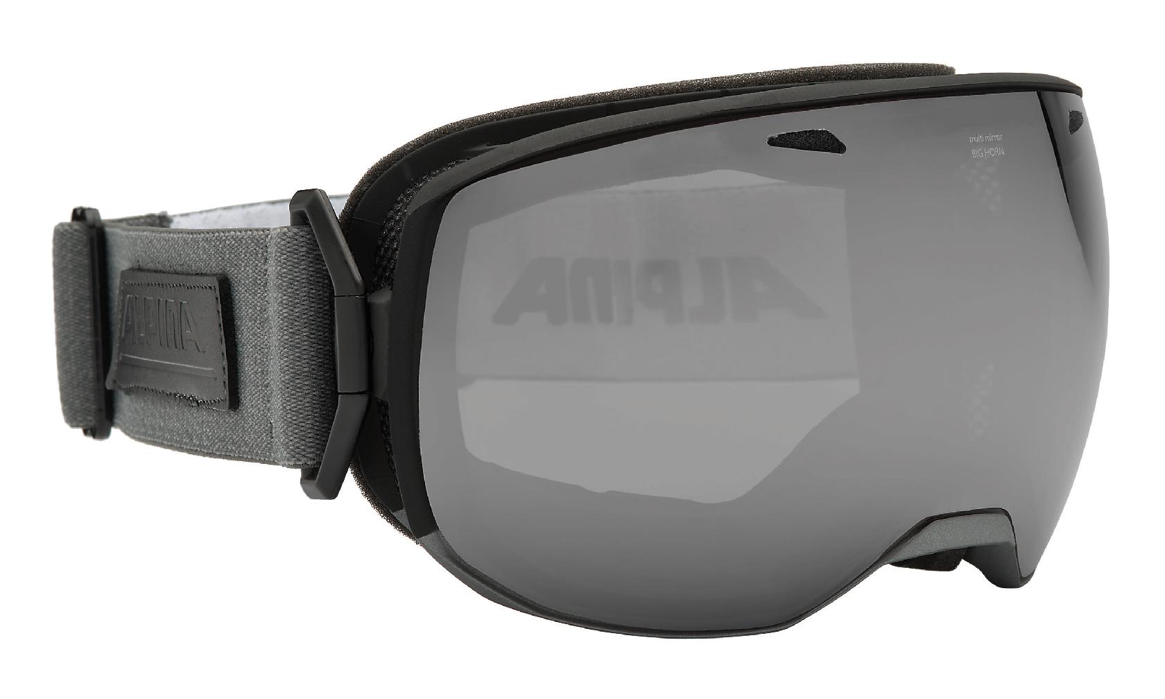 Unisex Skibrille BIG HORN MM, black-grey, -