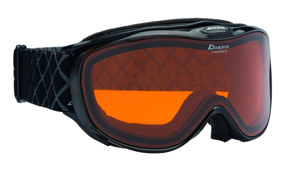 Herren Skibrille Challenge 2.0 D Schwarz