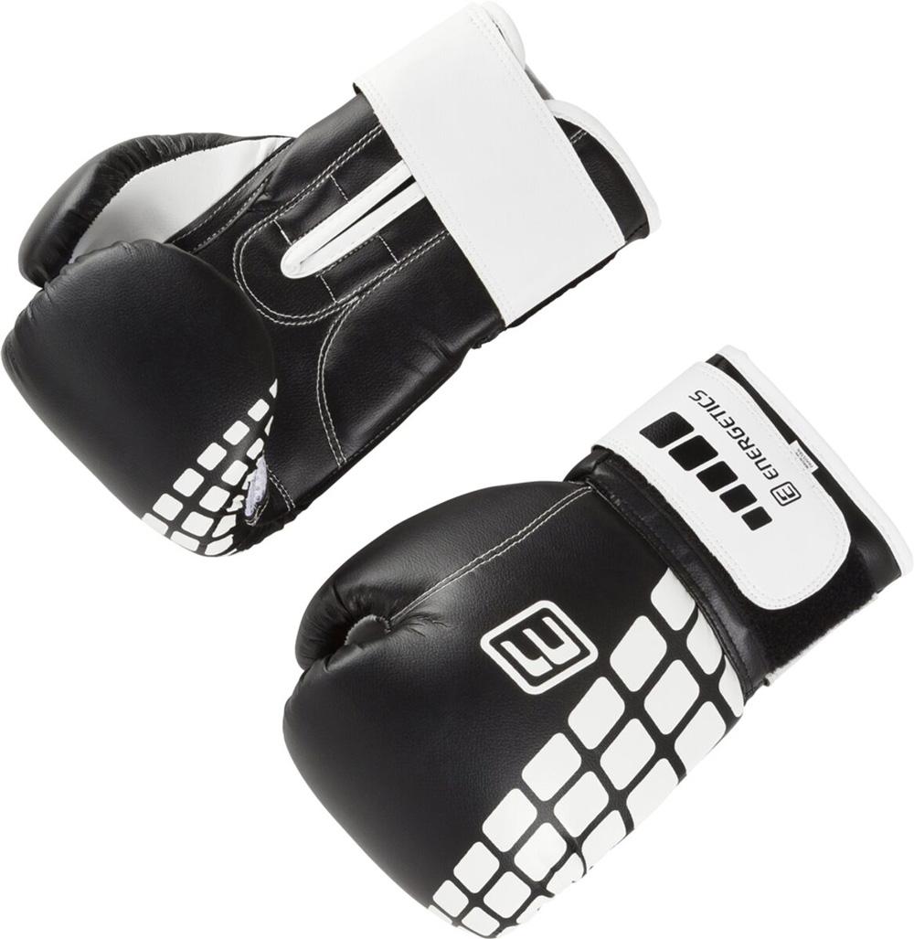 Boxhandschuhe PU FT Schwarz Weiß, SCHWARZ/WEISS, 8