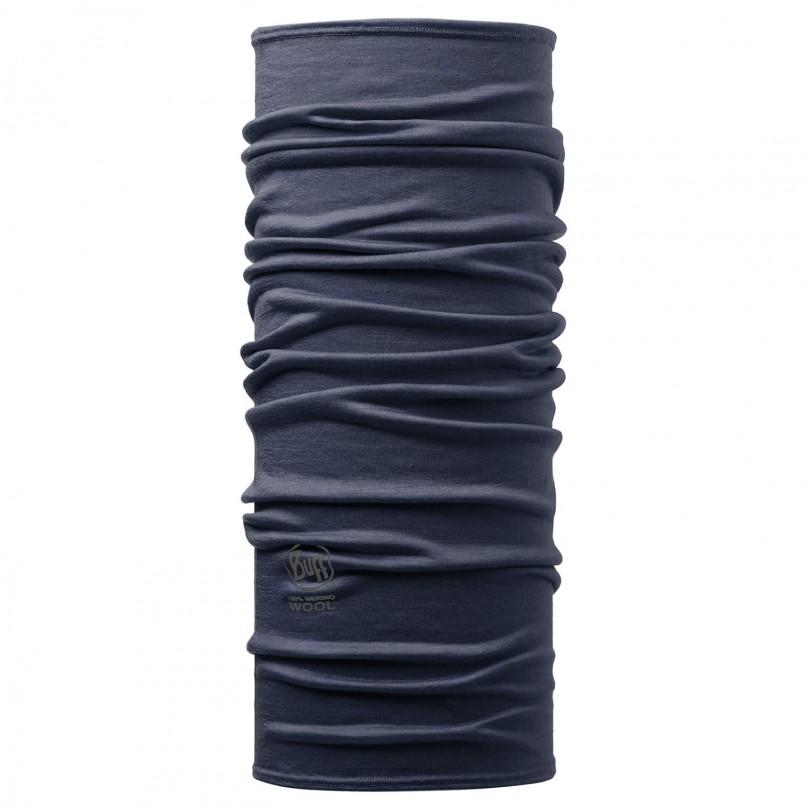 Unisex Hals- und Kopftuch Merino Solid Demin