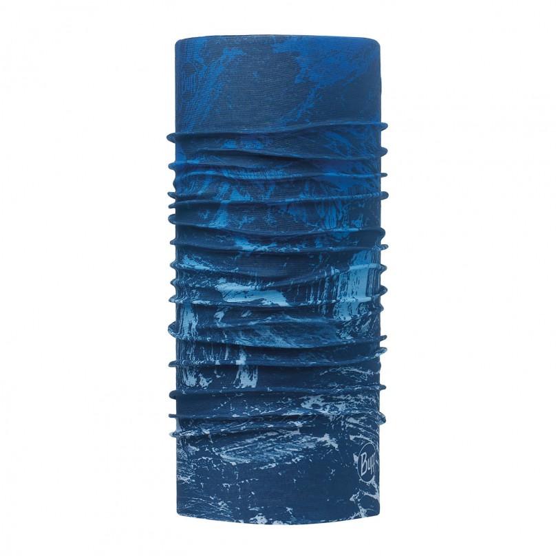 Unisex Hals- und Kopftuch MOUNTAIN BITS BLUE