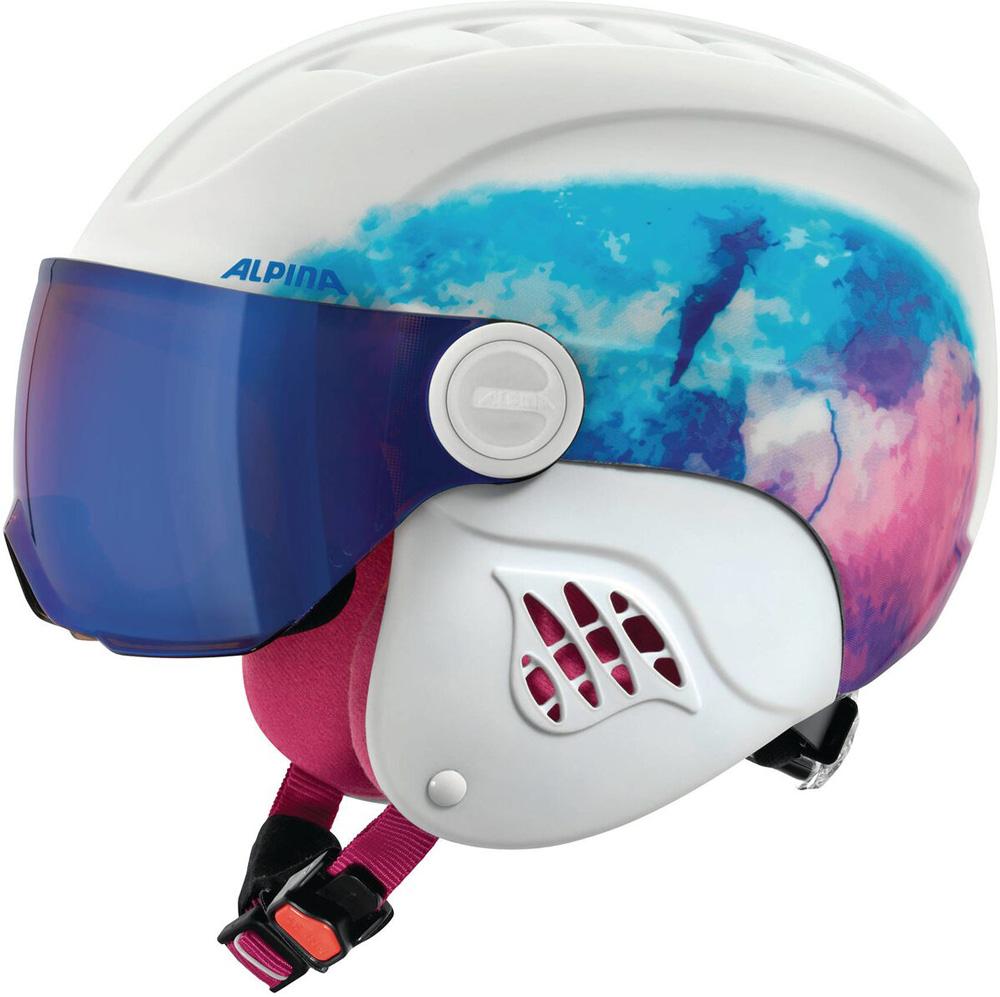 Ski- und Snowboardhelm Carat LE Visor HM Jun. Weiß