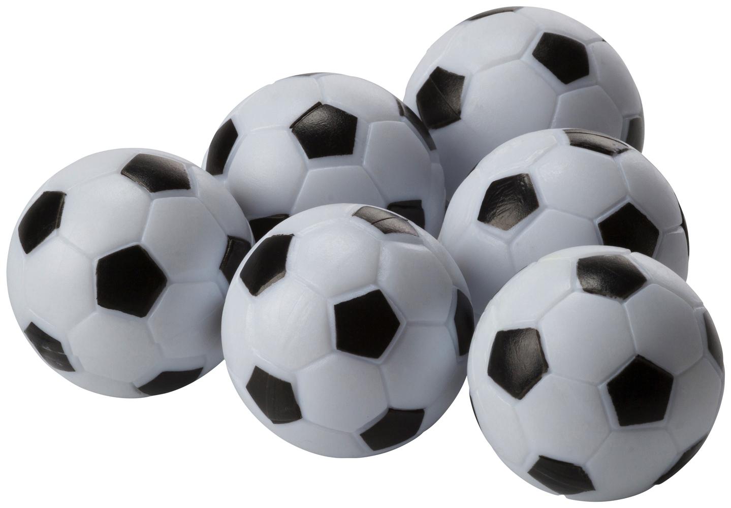 Ersatzbälle für Tischfussball, WEIß/SCHWARZ, -