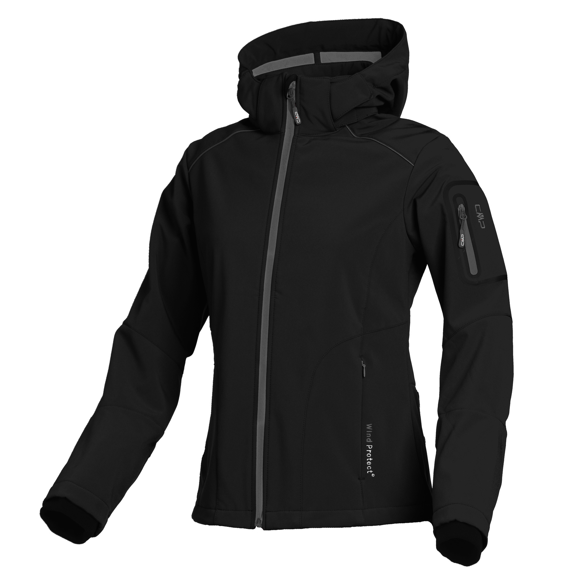 Damen Softshell-Jacke WOMAN SOFTSHELL JACKET ZIP HOOD