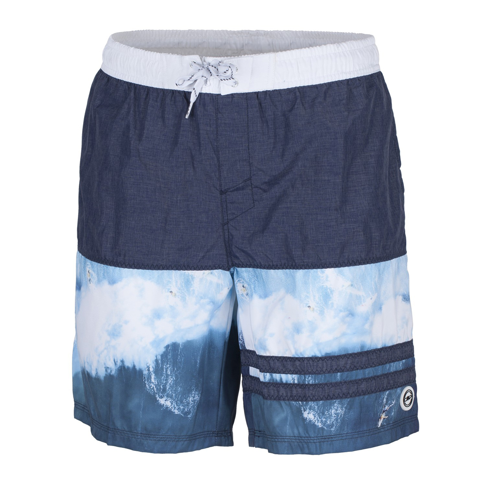 Herren Badehose MAN MEDIUM SHORT, B.BLUE MEL., 54