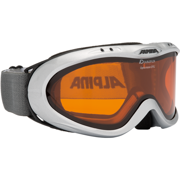 Skibrille OPTICVISION DH, silver, -