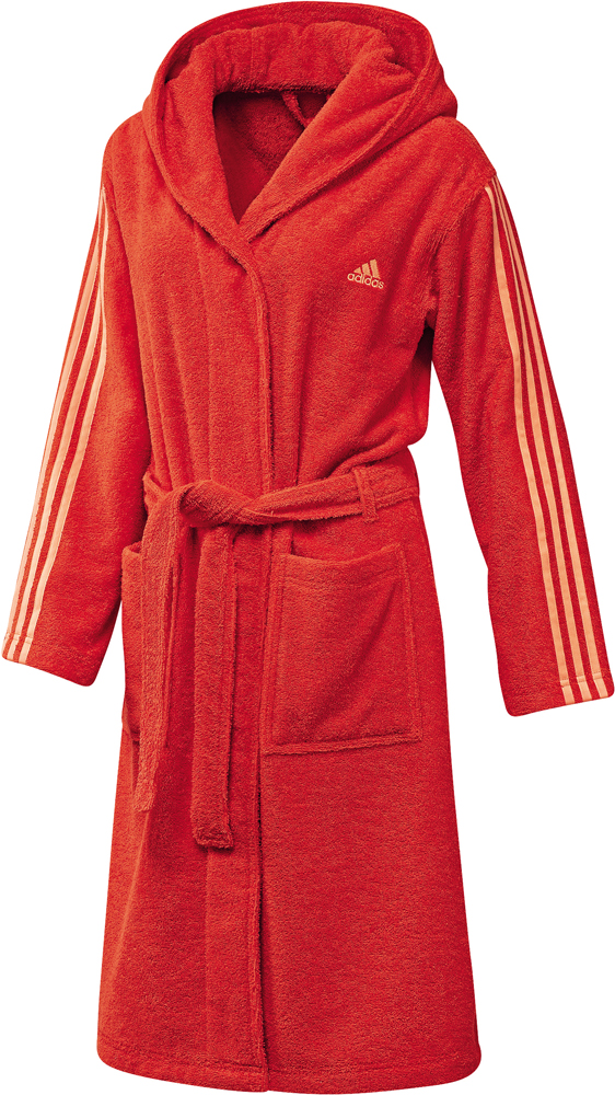 Damen Bademantel 3 stripes bathrobe