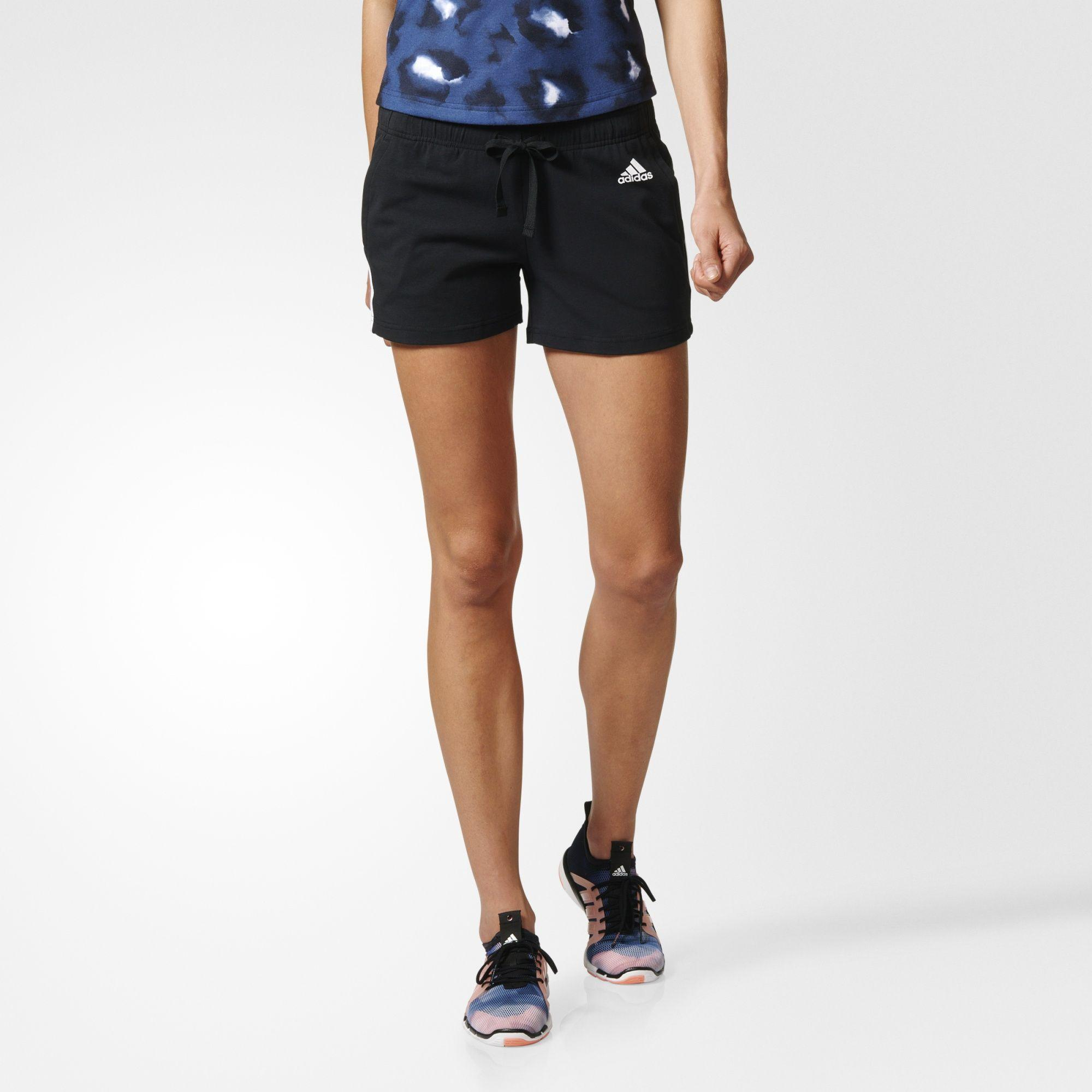Damen Essentials 3-Streifen Shorts