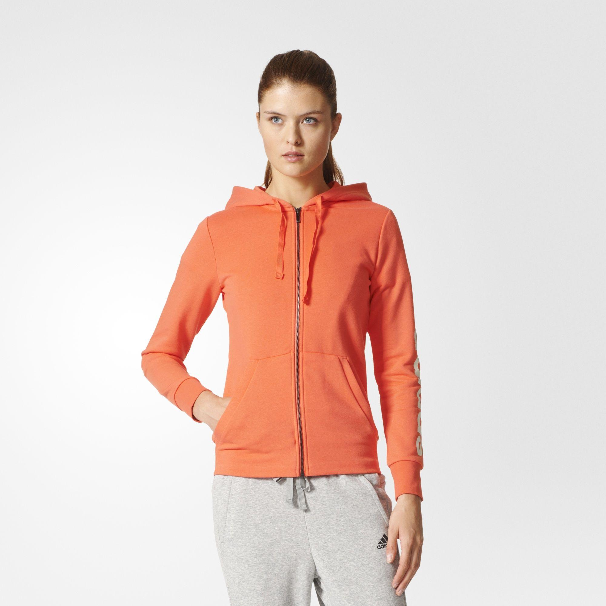 Damen Essentials Linear Kapuzenjacke