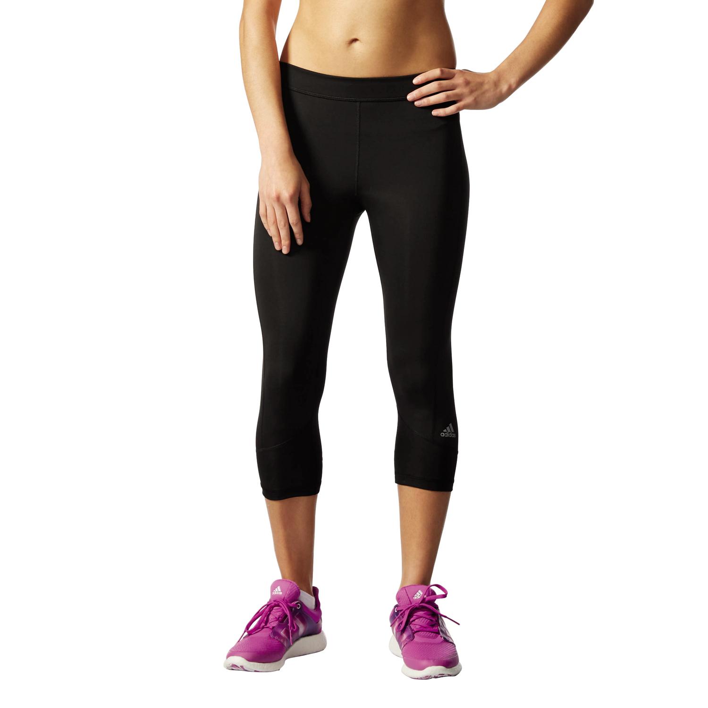 Damen Sporthose Techfit Capri, BLACK/MSILVE, XS