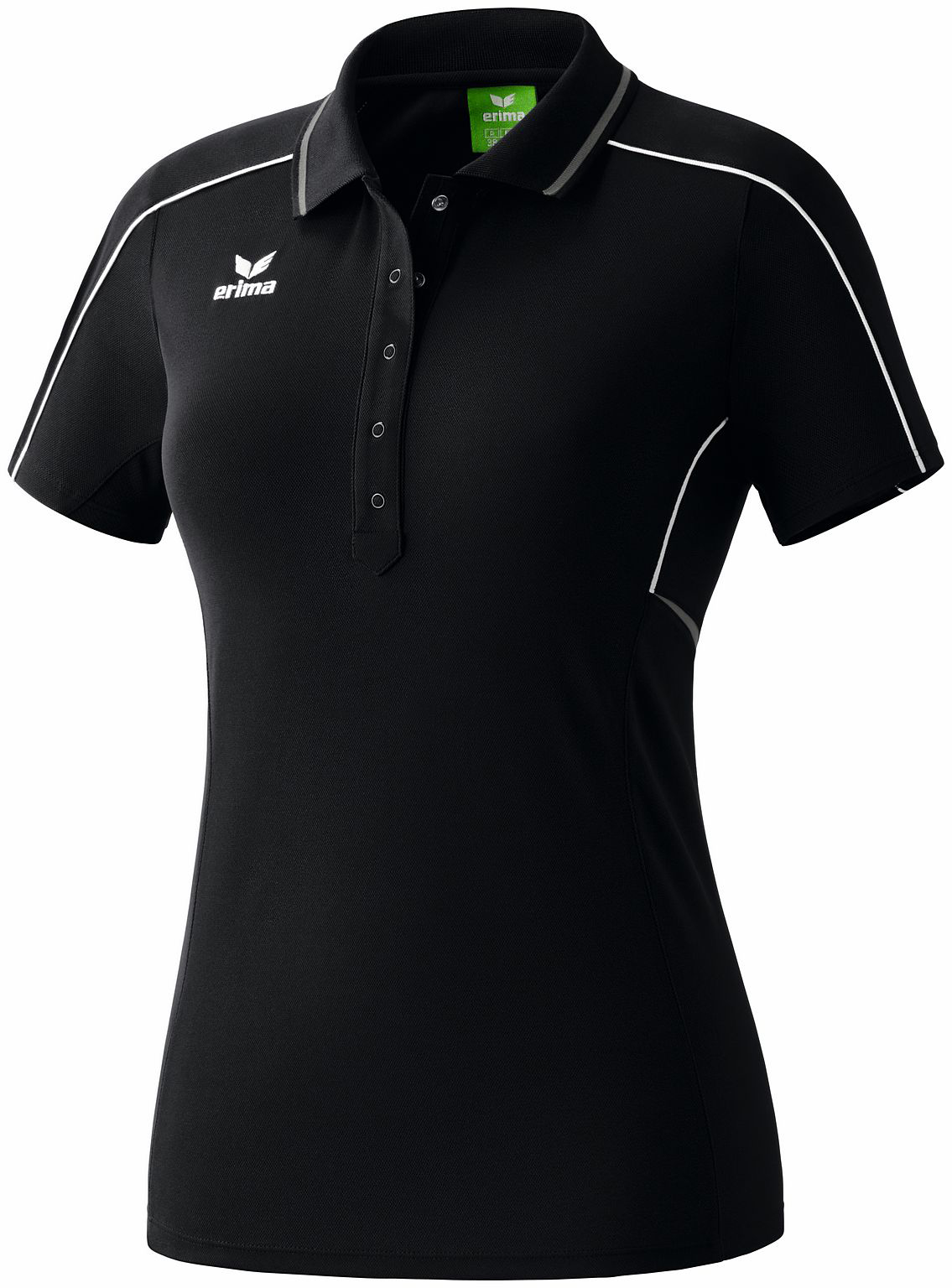 Damen Poloshirt GOLD MEDAL, black/granite/white, 40